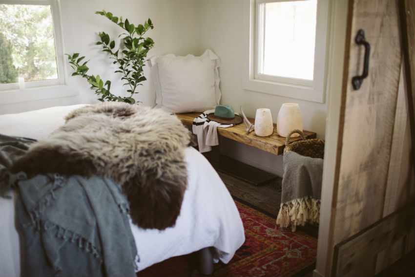 Soft textures alter the interior dimensions of the home. Image Source: Hygge Life