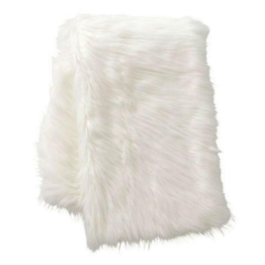 The furry throw will make you never want to leave the couch. Image Source: Best Products