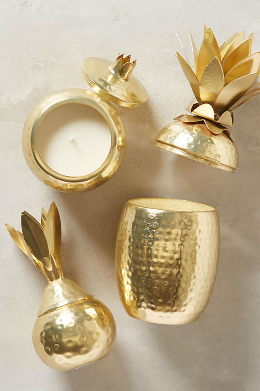 Add value to any room in your house with these accent candles. Image Source: Anthropologie