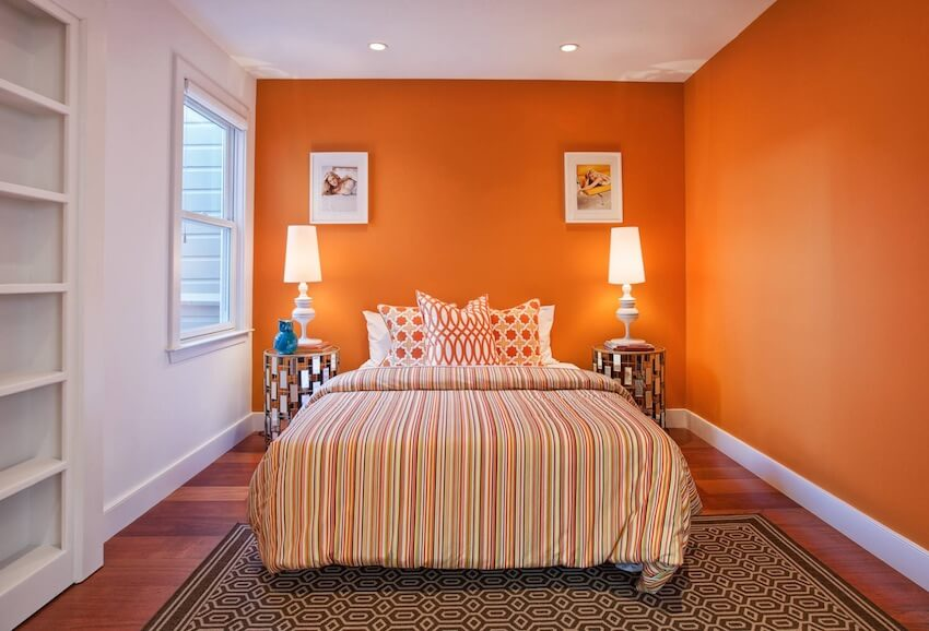 Orange you glad you painted the bedroom