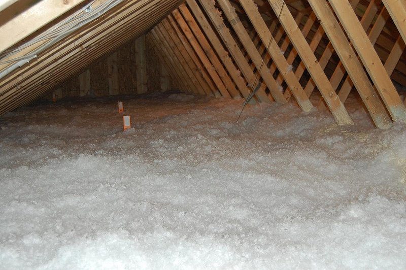 Loose fill insulation is for spaces where rolled or batt insulation can't fit.