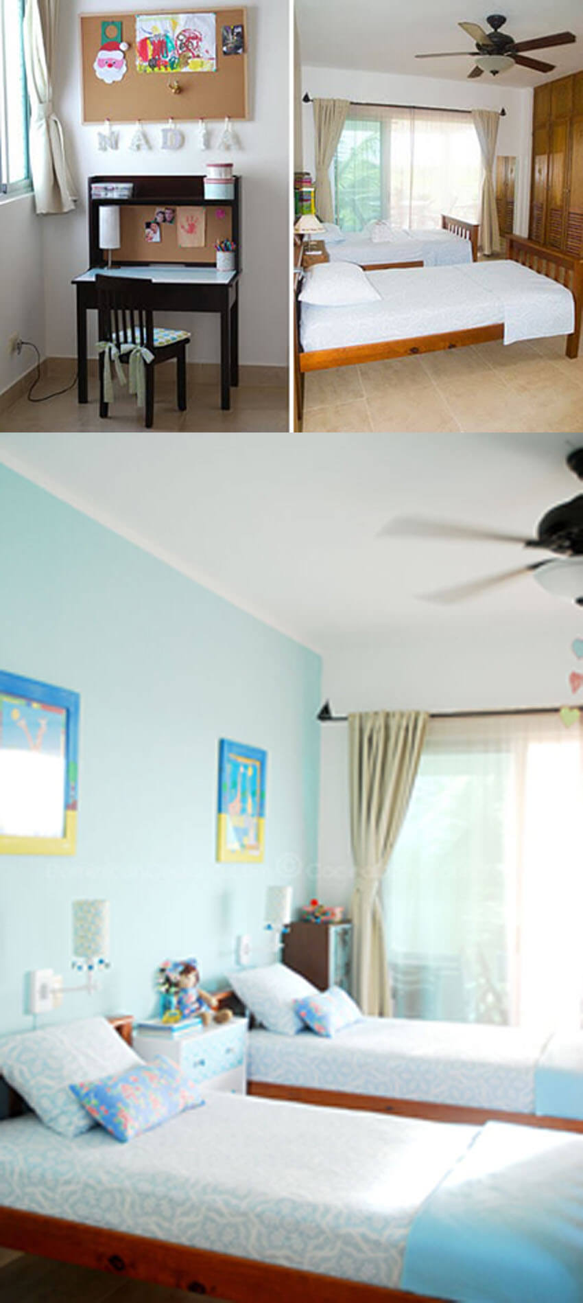 This kid's bedroom went from bland to awesome with only $100!