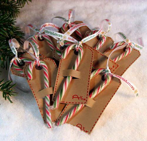 Add a little extra something with these cute candy cane gift tags!
