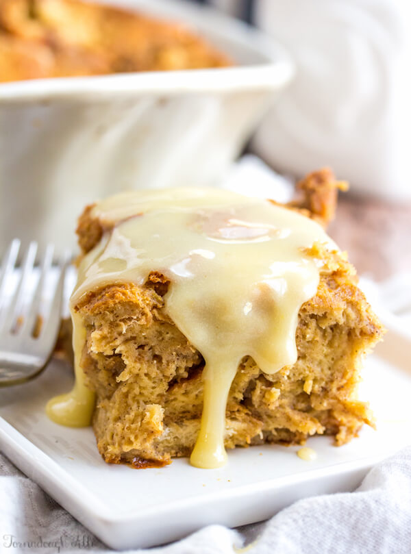 With gingerbread being the quintessential flavor of the holidays, it's no surprise this wonderful gingerbread bread pudding dessert made it on the list!