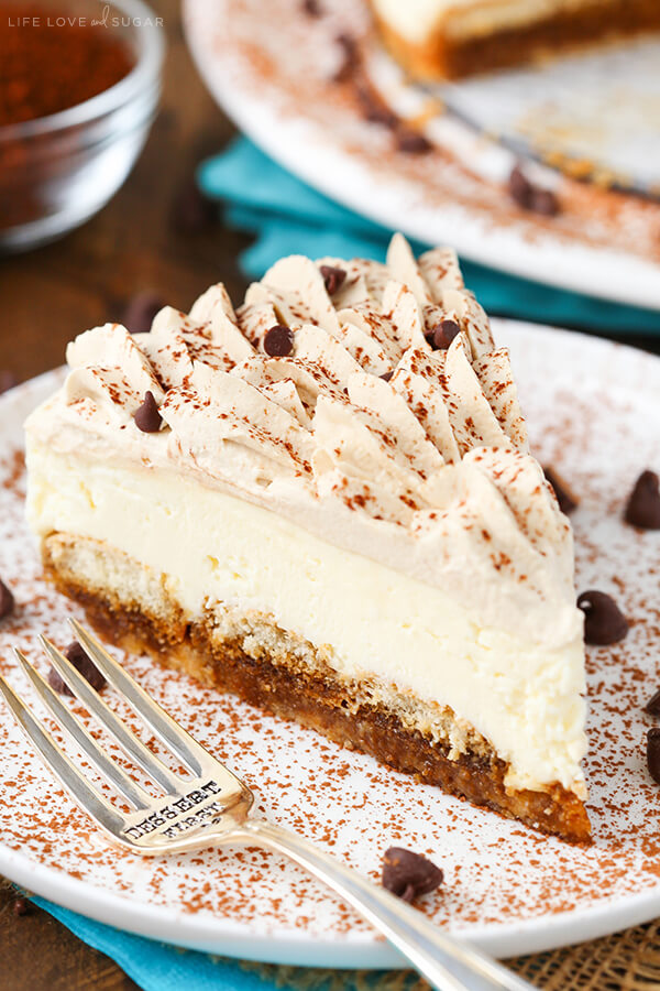 This sweet blend of Tiramisu and cheesecake makes an unforgettable dessert!