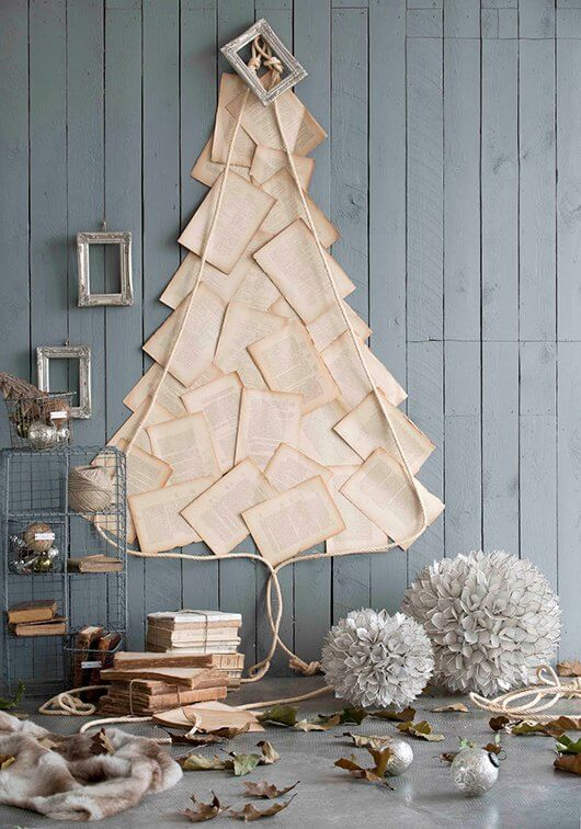 Show off your love of reading by turning book pages into a Christmas tree.