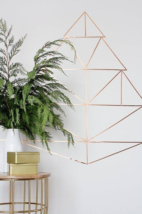 For a quick and easy DIY Christmas tree, use washi tape!