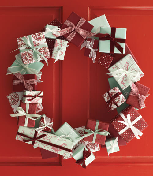 If you love giving gifts, this is the wreath for you!