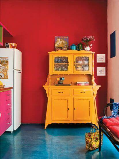 Making your kitchen's flooring more colorful is a great alternative to painting walls or cabinets.