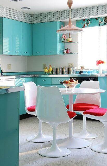 Cabinets don't have to be boring. Add some color to them!