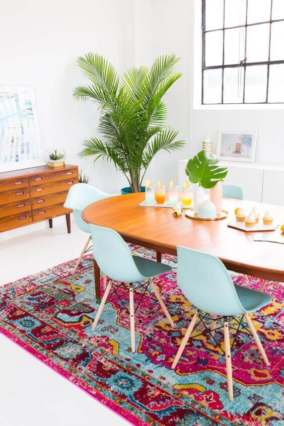 Rugs can be a great way of adding color to your kitchen without going overboard.