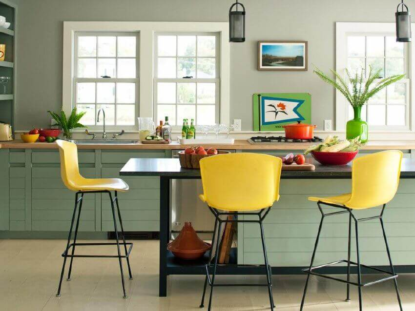 If you're not into bold colors, you can still have a colorful kitchen.