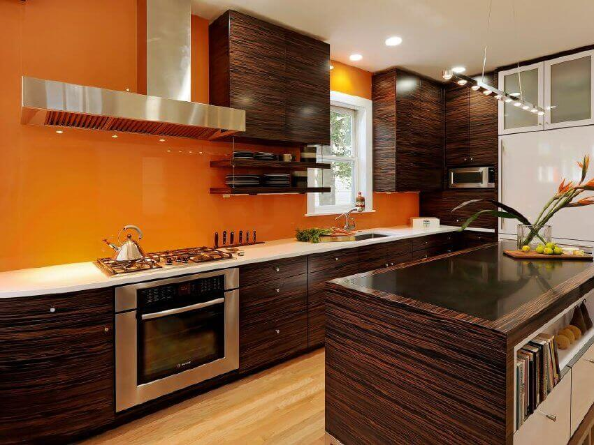 Make your kitchen more colorful by painting the walls a bright color.