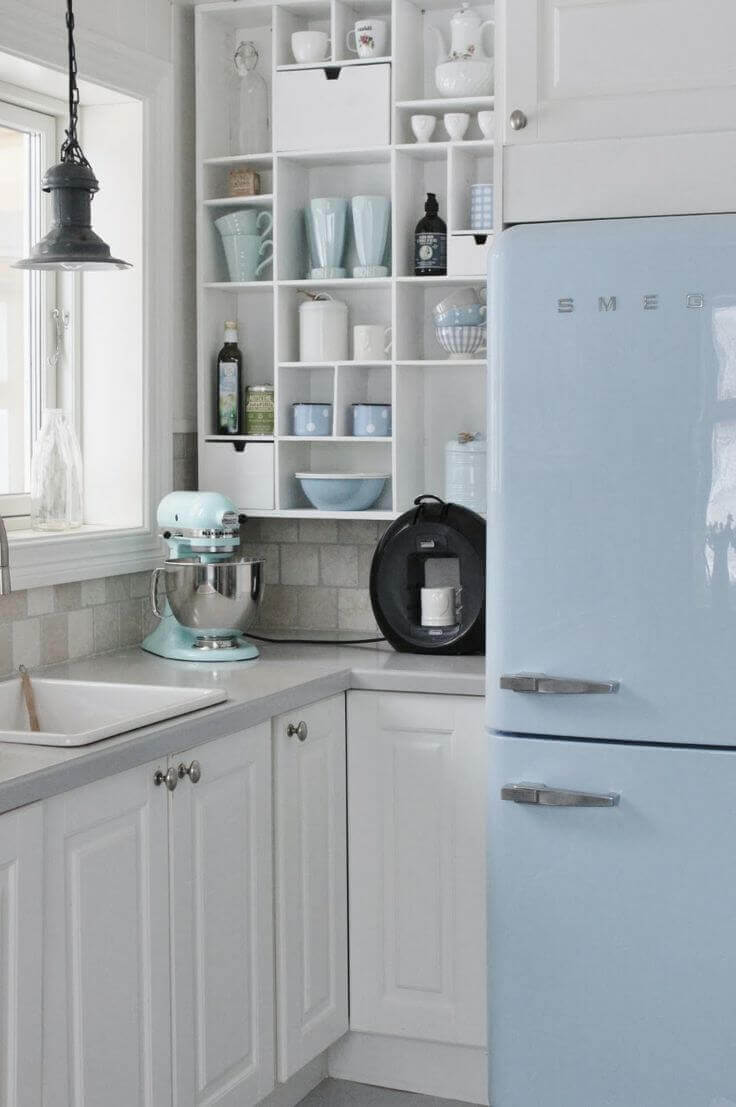 Use subtle pastel colors to add color to your kitchen without being overly bold or loud.