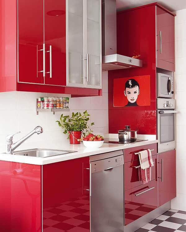 If you've always wanted a bold kitchen, now's your chance!