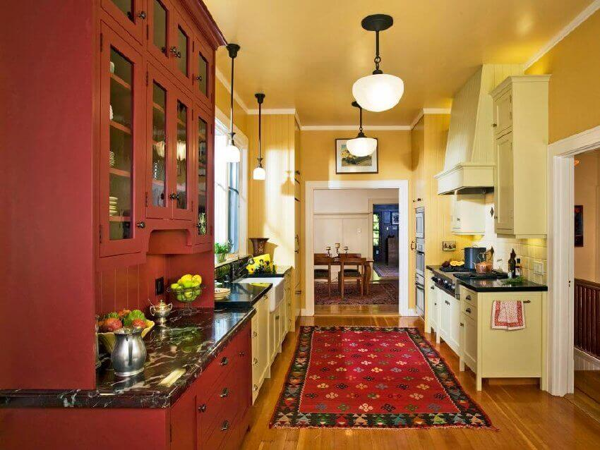 Mix and match colors to create a visually striking kitchen.