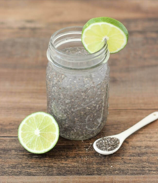 Chia seeds are a great source of calcium and fiber and this chia detox water is a delicious way to incorporate them into your diet!