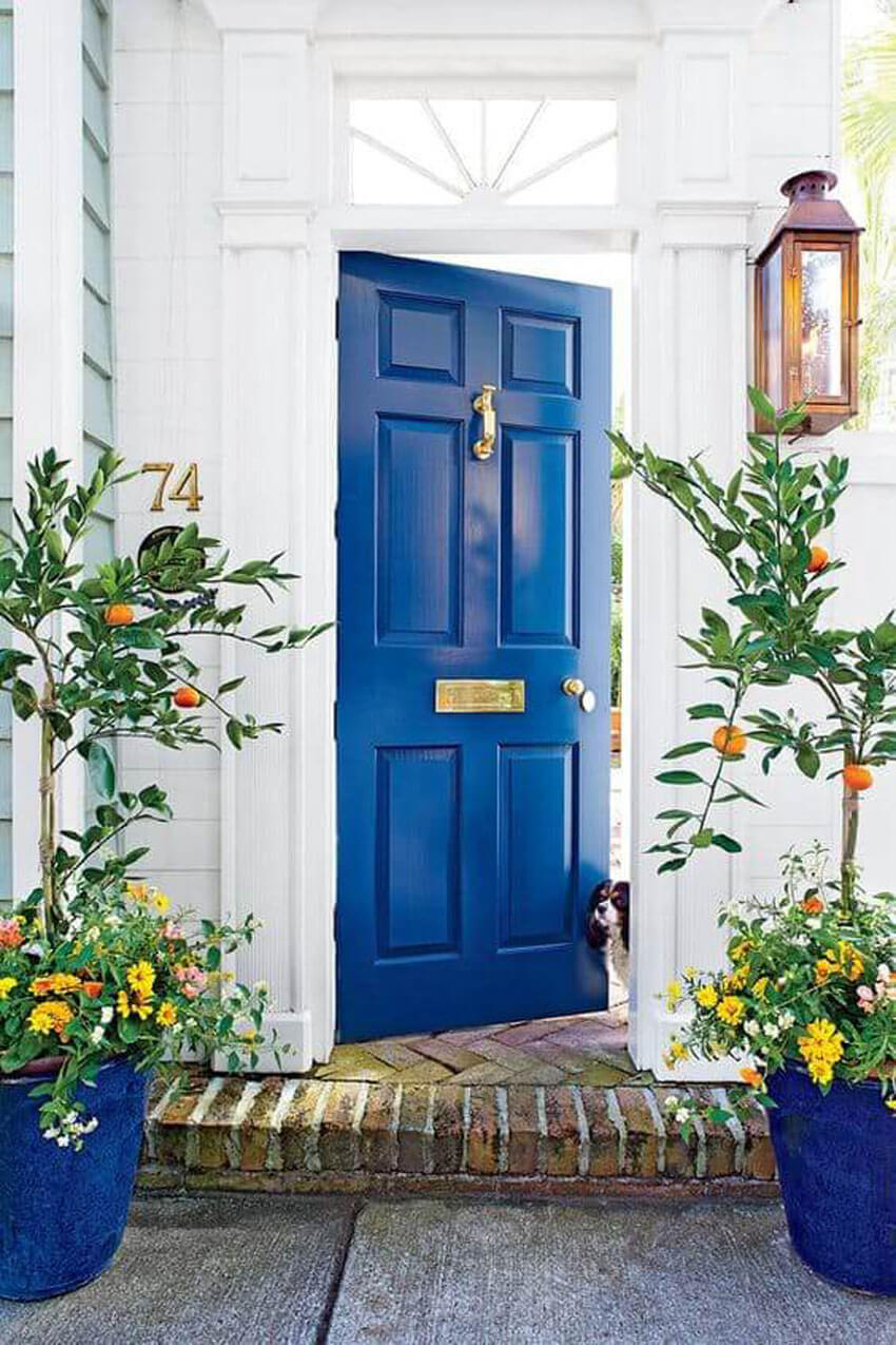 Replacing your front door is a cheap way to update the look of your house.