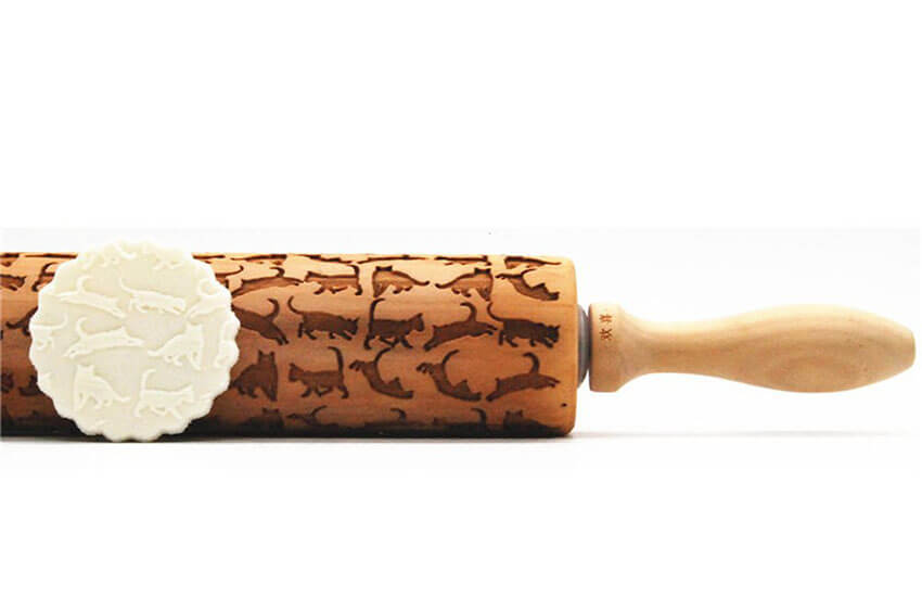 Cat Engraved Rolling Pins