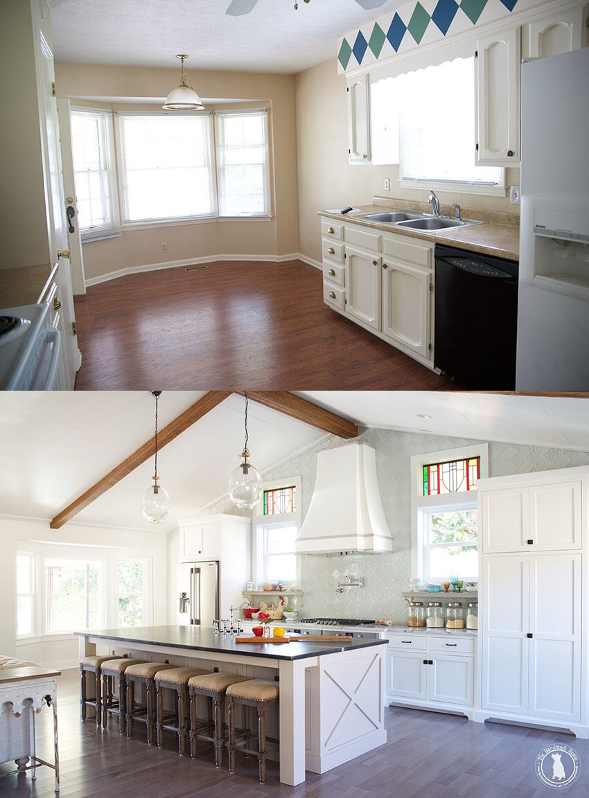 Amazing creativity transformed this kitchen into an utterly gorgeous space.