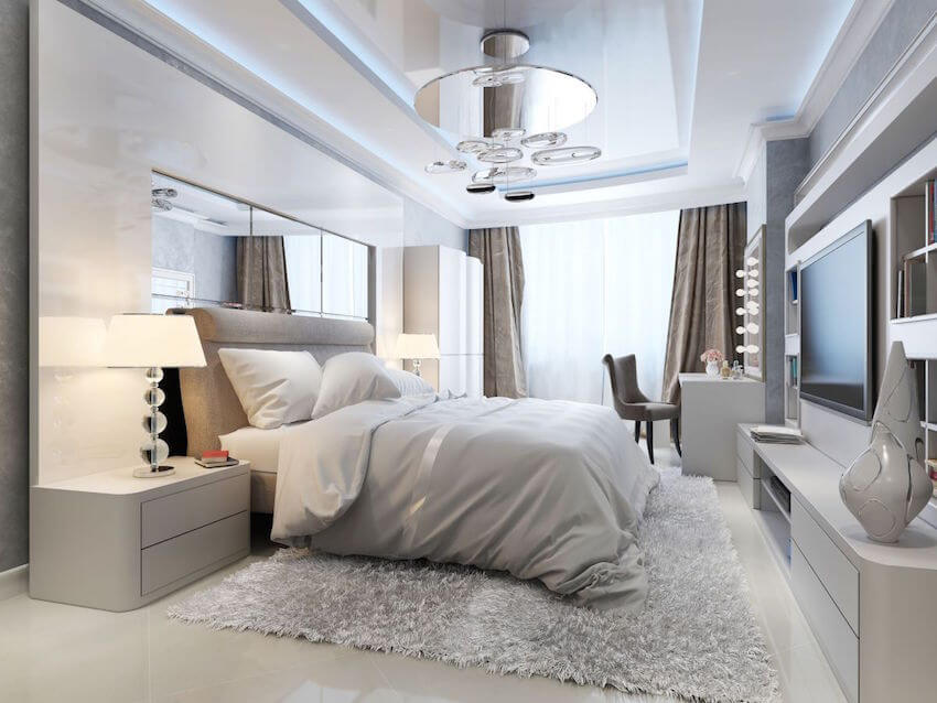 Completely redone bedroom shades of grey style