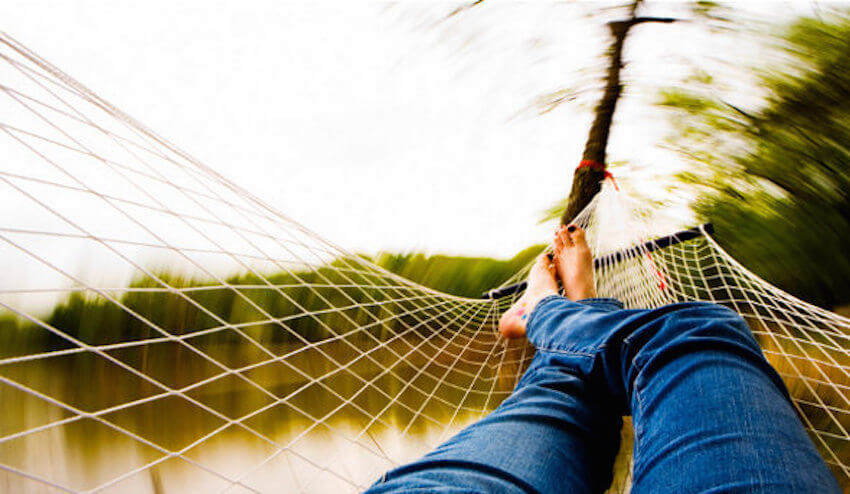 Relaxing outdoor hammock for taking it easy in your backyard