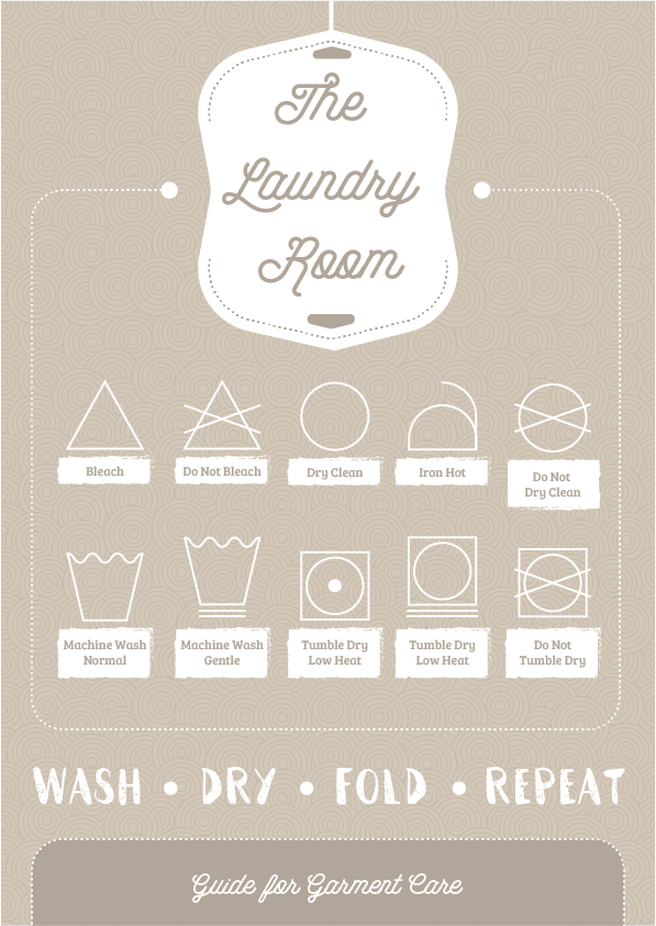 This pretty printable combines the helpful laundry guide with a beautiful design and not only makes it a useful print out, but also makes the room more beautiful!