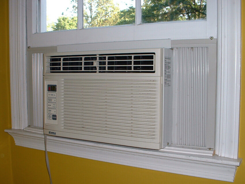 Window mounted units can also be an issue