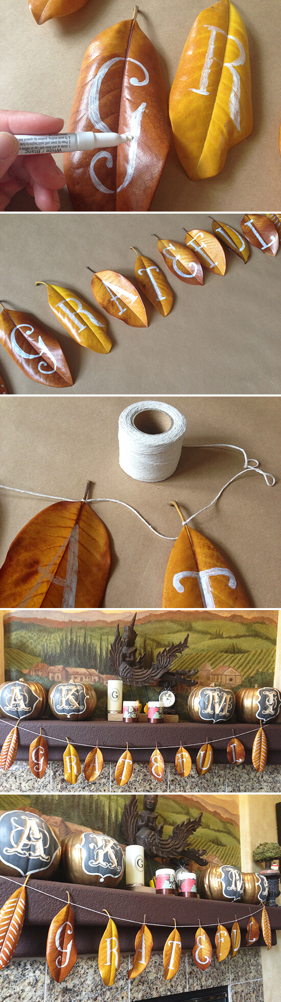 Make this incredible DIY grateful garland to add a welcoming touch to your fall decor.