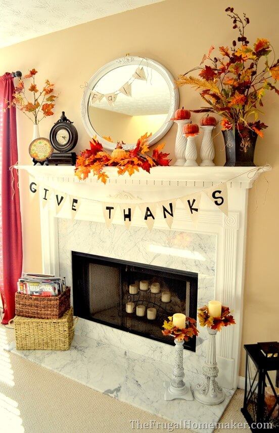 When it comes to decorating with leaves, you can never go too far. So decorate to your heart's content!