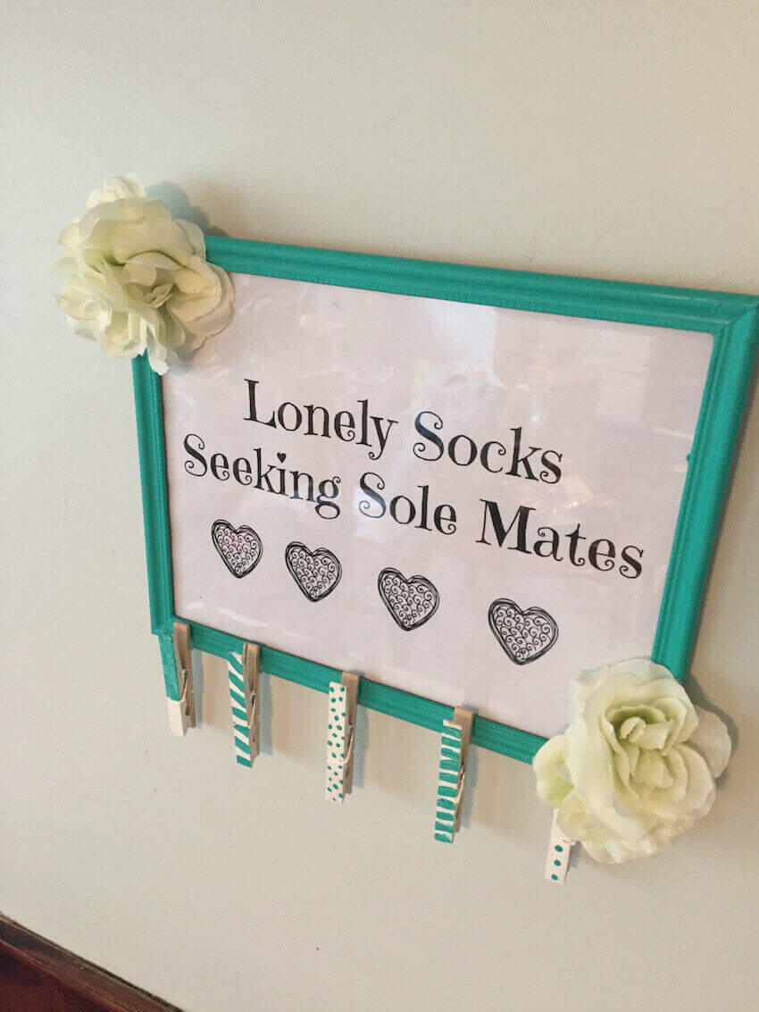 Wall projects for missing socks