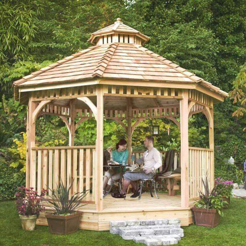 A gazebo for any home lawn or yard