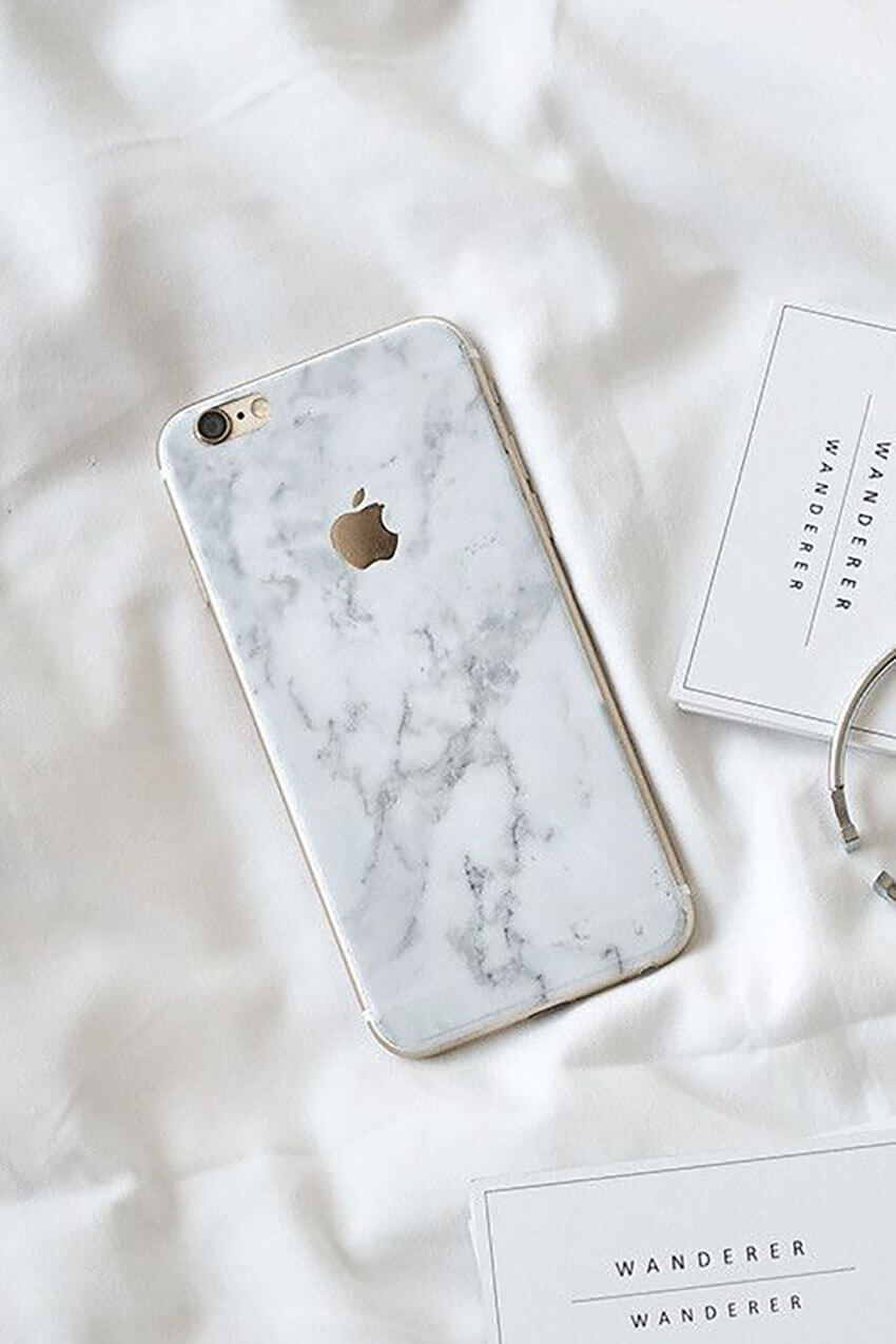 Transform your phone with a marble case.
