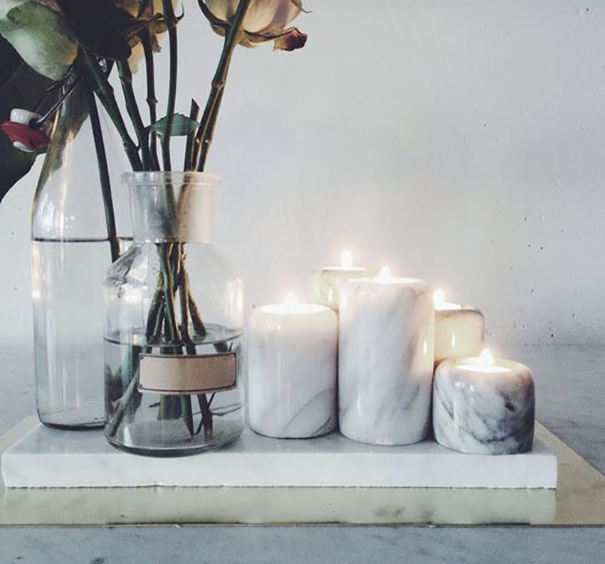 Candleholders are the easiest way to add marble into your house.