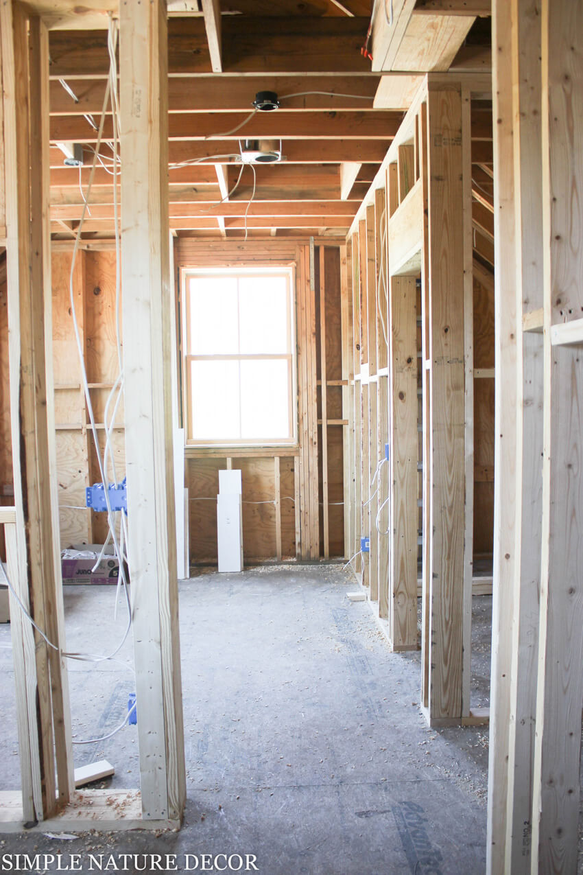 This particular room will have an open floor plan.