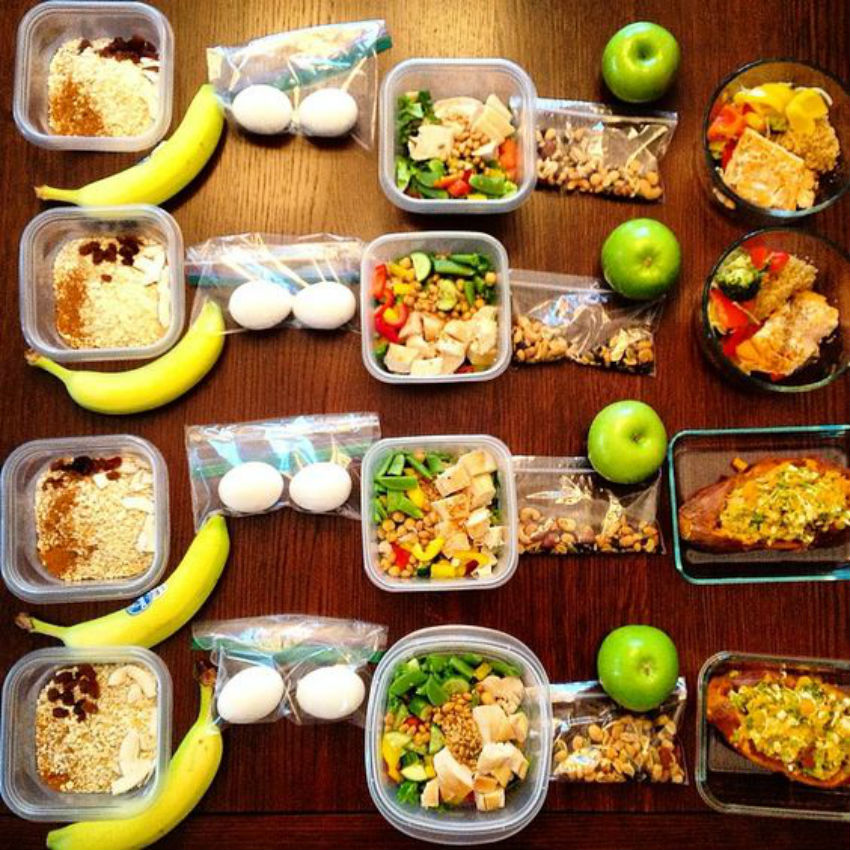 It's important to eat a lot of protein, fiber (essential for digestion), and healthy carbs to boost the metabolism.Image Source: Daily Burn