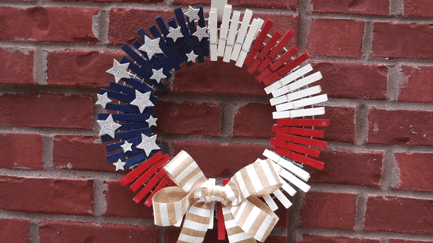 This wreath is also a great option for 4th of July.