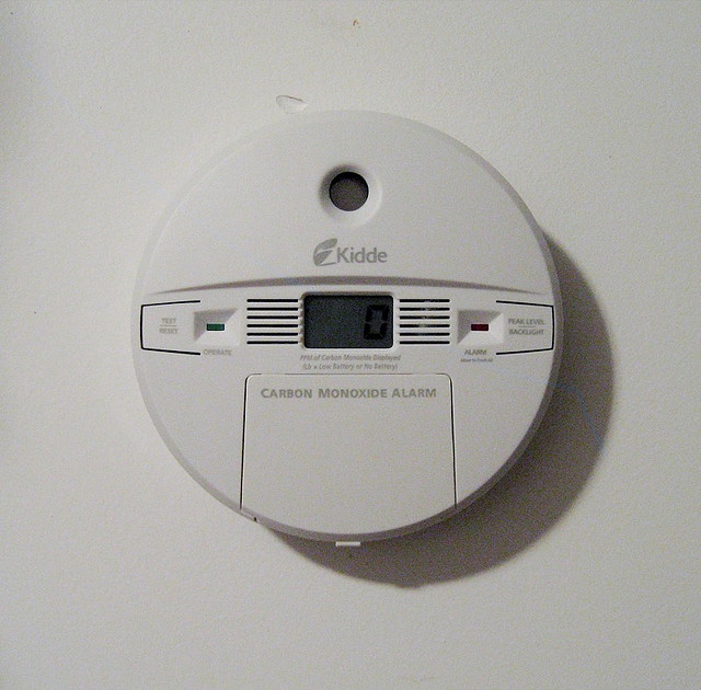 Carbon monoxide is a dangerous gas, so make sure you have a carbon monoxide detector in your home.