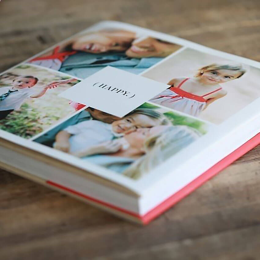 A photo album filled with spontaneous pictures are sure to bring a smile to her face.