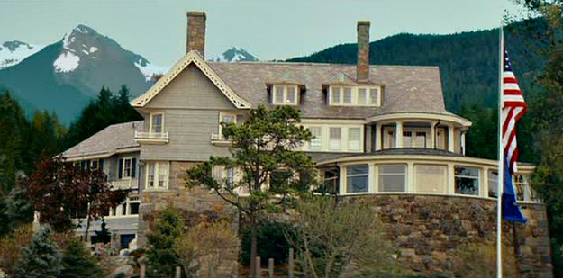 This beautiful home was set in Alaska in The Proposal but was actually located in Massachusetts