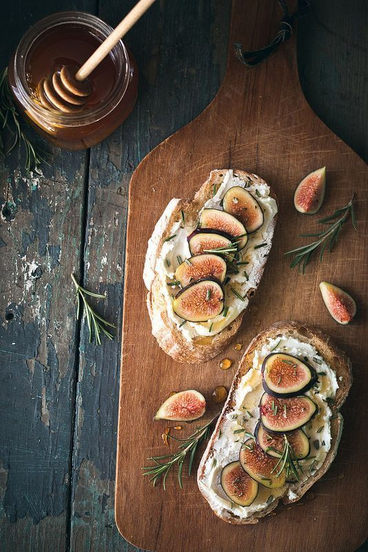 For a truly unique experience, try this delicious fig, rosemary, and goat cheese tartine!