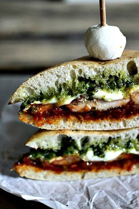 Take your chicken sandwich to the next level by adding pesto and sun dried tomato spread!