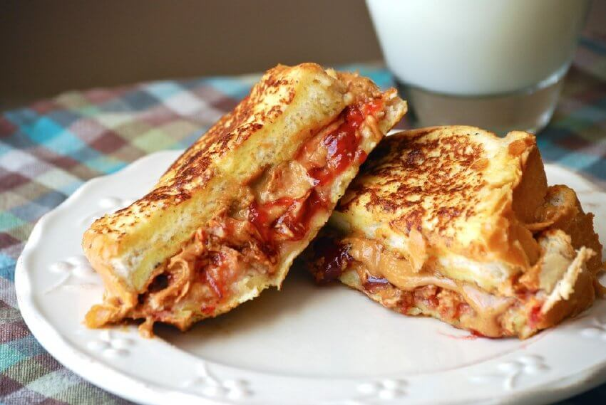 If you love peanut butter and jelly sandwiches, try making one using French toast!