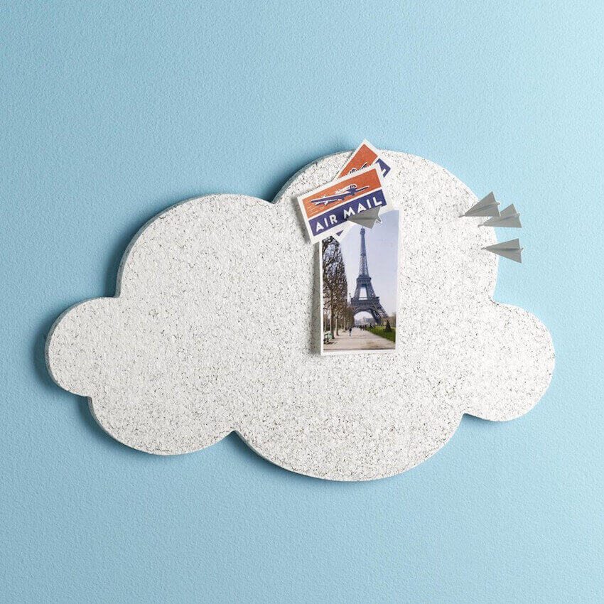 Home wall decor designed to keep your head in the clouds