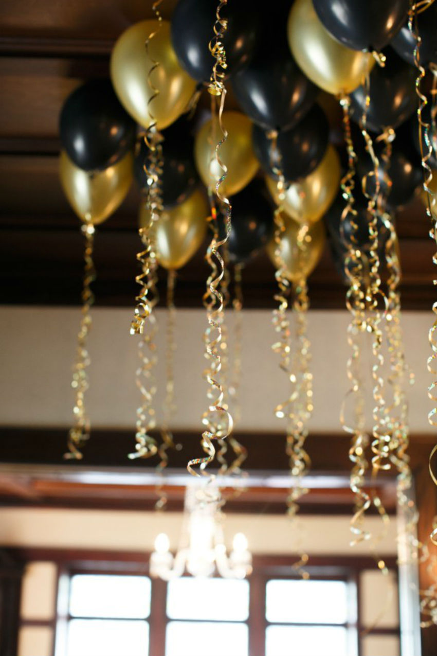 Back and gold are great for the New Year's eve party. Image Source: Style Caster