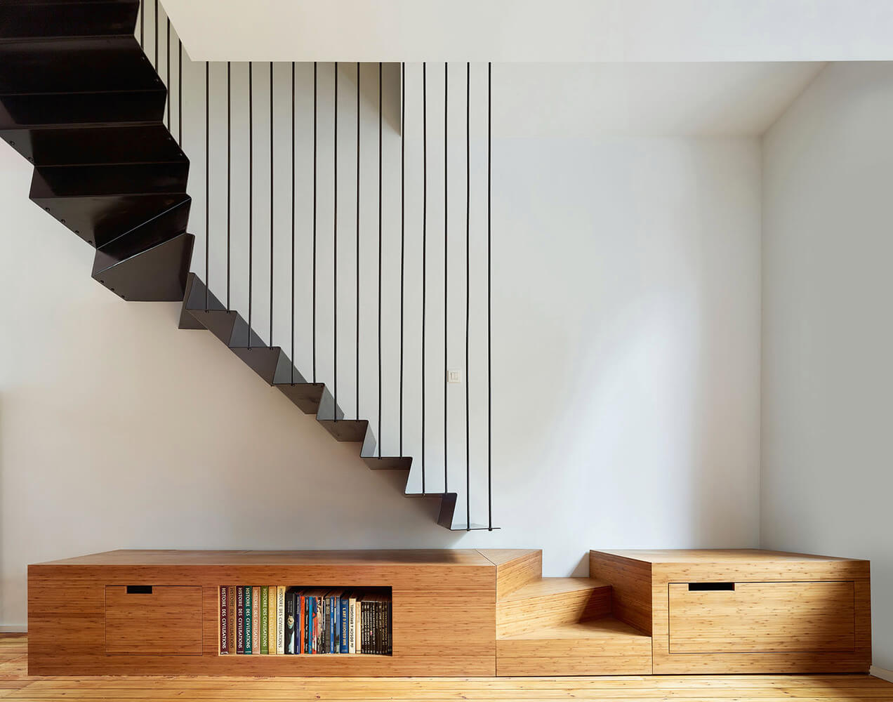 A suspended staircase can really make a statement
