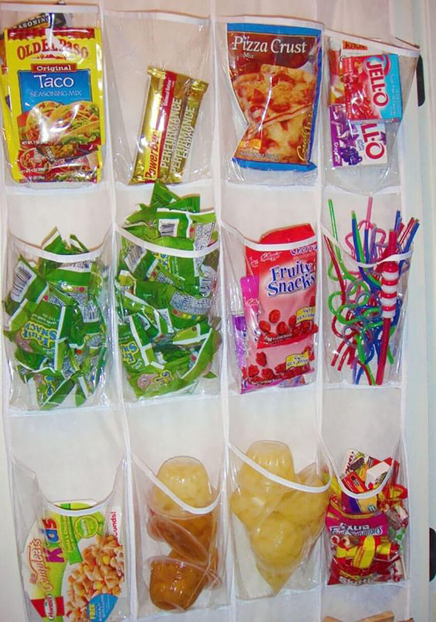 Use a plastic organizer to save space and keep everything in sight.