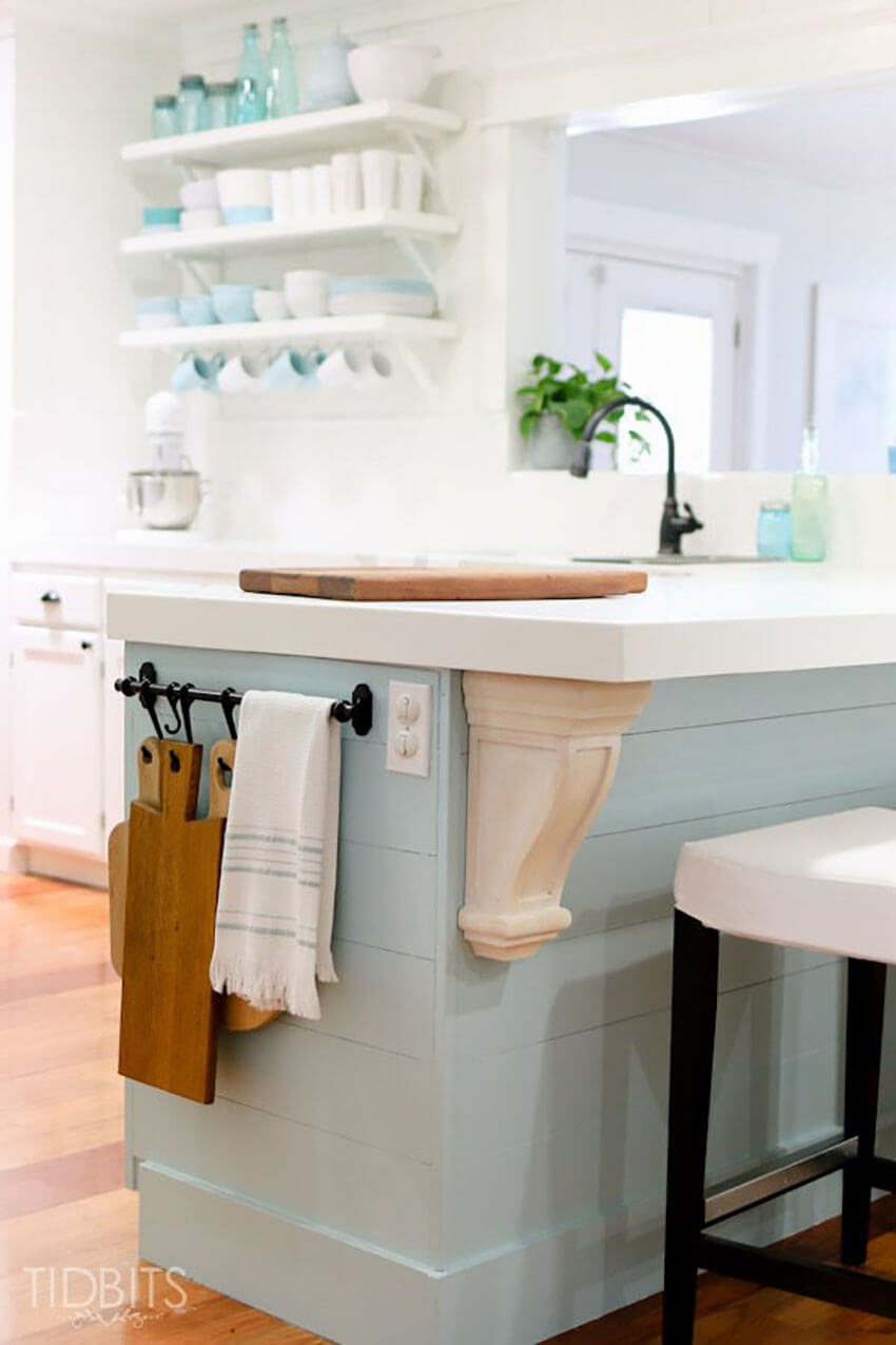 Add hooks to increase organization in the kitchen.