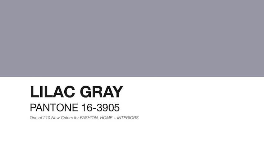 Any room can be matched with lilac grey paint
