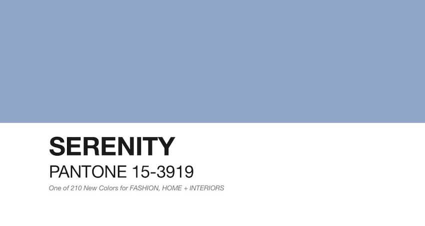 Feel the serene moments with this Pantone color